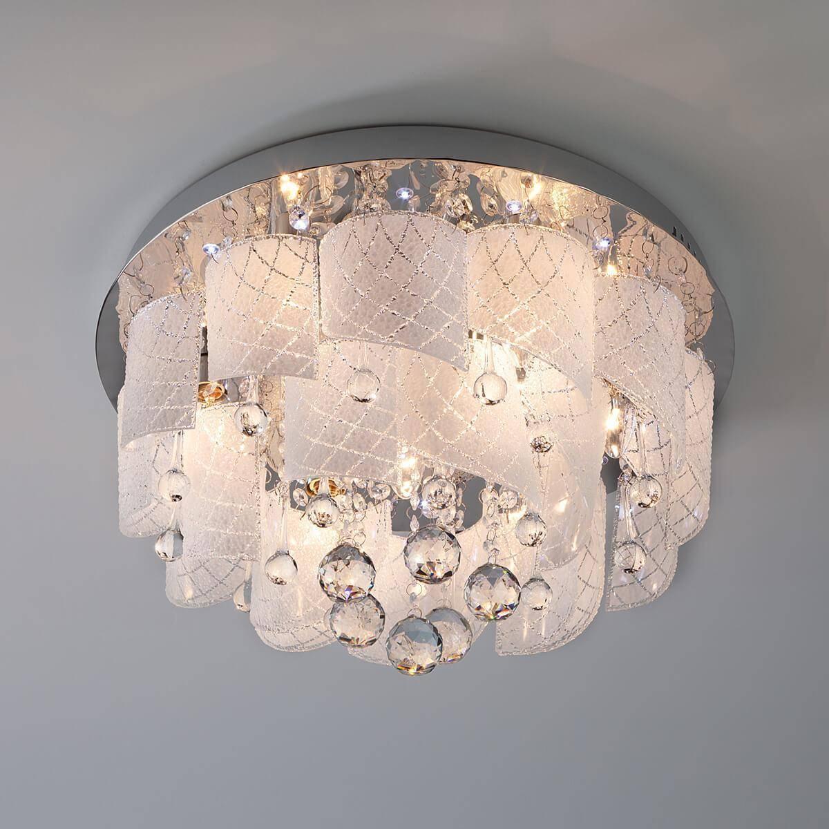 Потолочный светильник Eurosvet 80117/8 хром/белый