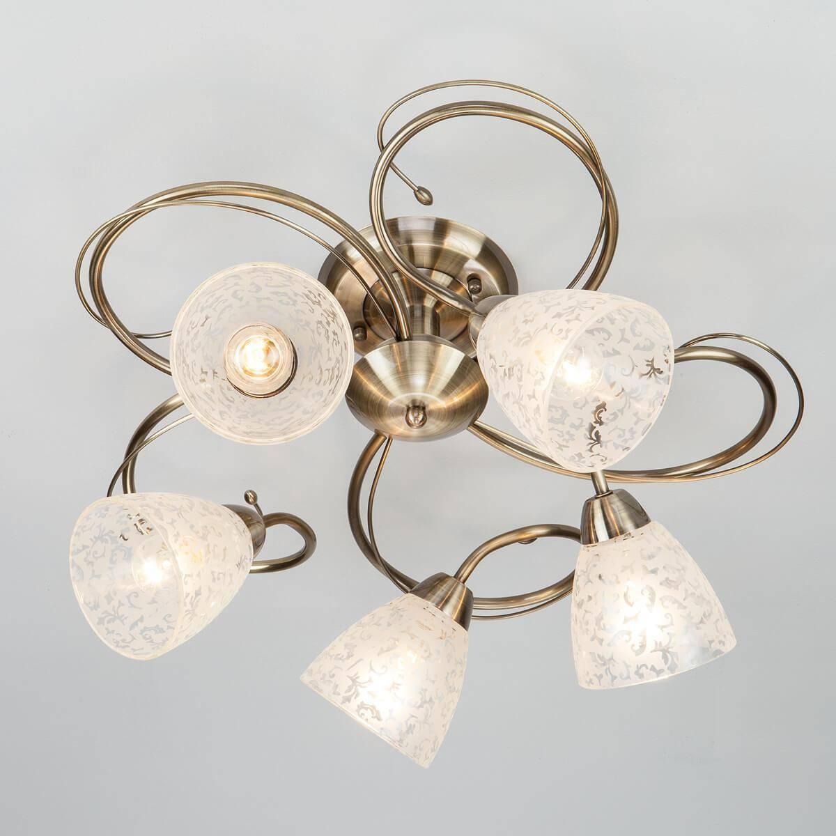 Потолочный светильник Eurosvet 30130/5 античная бронза