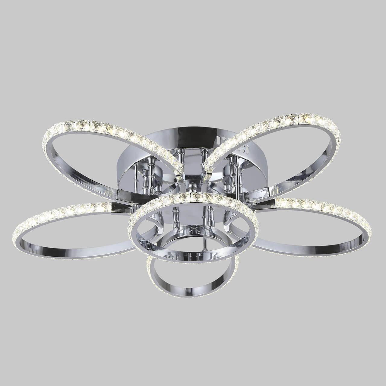 Потолочная светодиодная люстра Eurosvet Soul 90098/6 хром