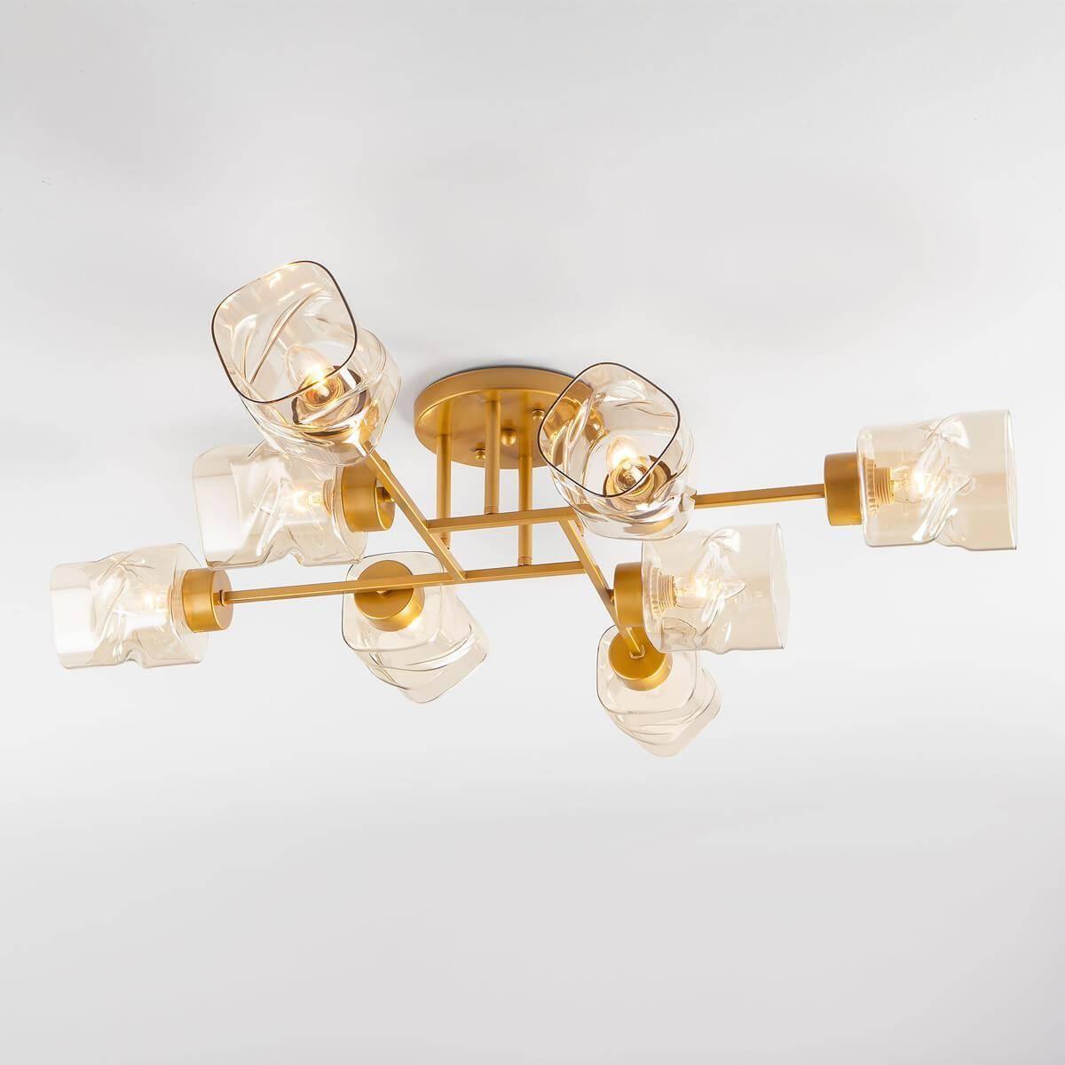 Потолочная люстра Eurosvet Hilari 30165/8 перламутровое золото