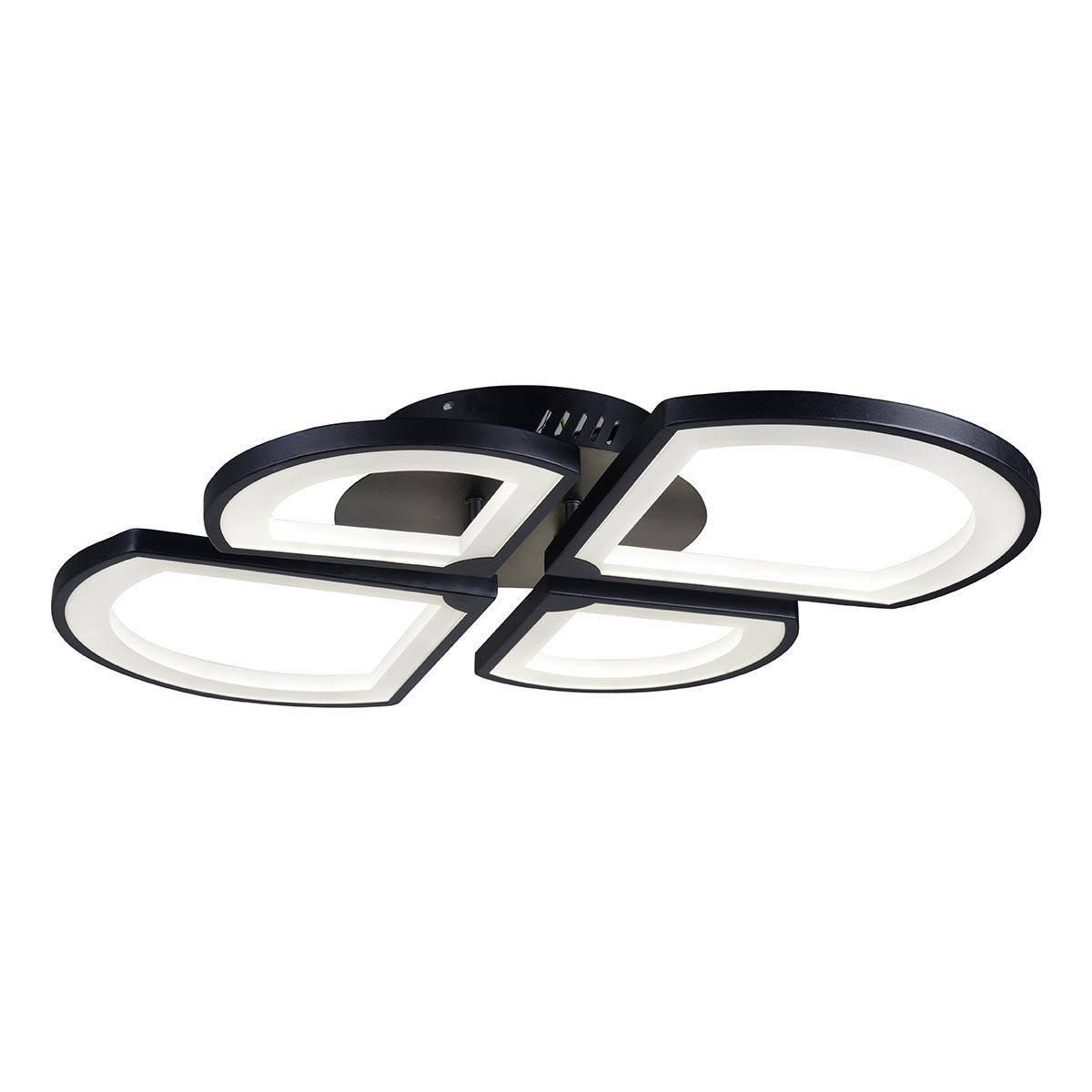 Потолочная светодиодная люстра iLedex River X024-4 BK
