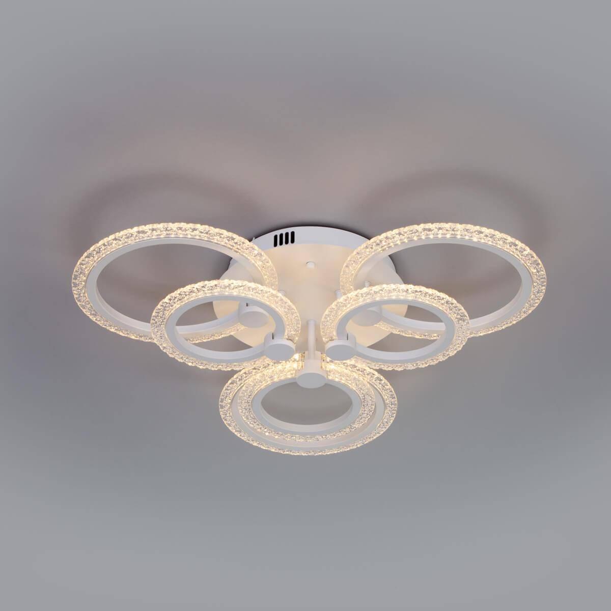 Потолочная светодиодная люстра Eurosvet Wellen 90226/6 белый