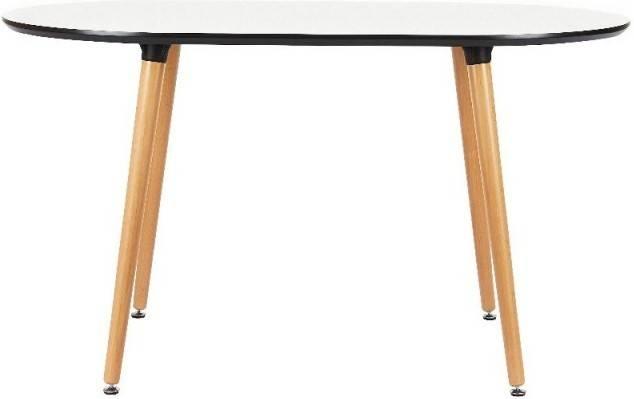 Купить Стол Brooklyn овальный овальный, массив бука, МДФ, 140 x 80 см, Варианты цвета: белый, фото 2
