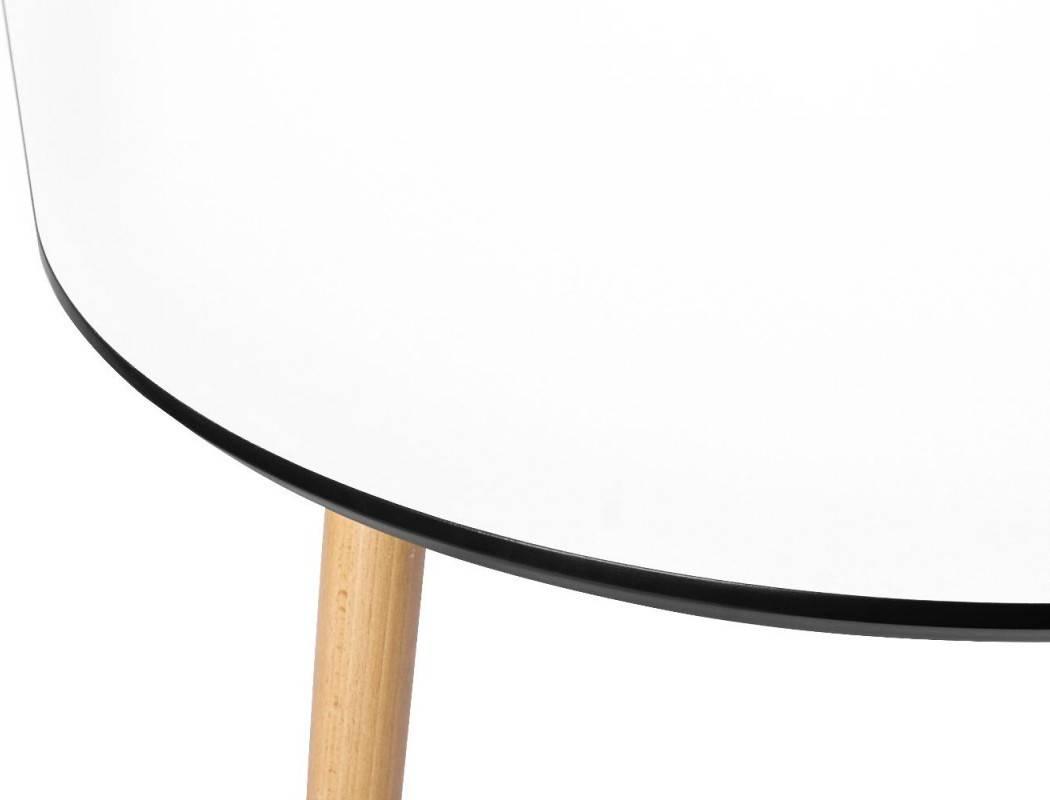 Купить Стол Brooklyn овальный овальный, массив бука, МДФ, 140 x 80 см, Варианты цвета: белый, фото 4